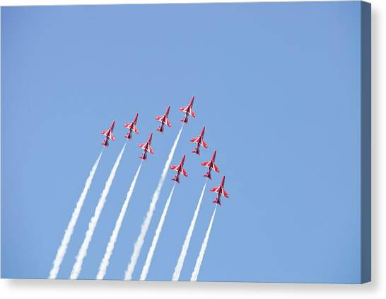 Acrobatic Canvas Print - The Red Arrows by Ashley Cooper