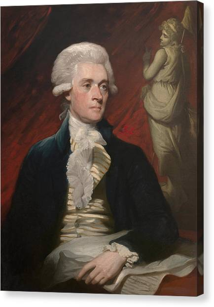 Thomas Jefferson Canvas Print - Thomas Jefferson - By Mather Brown by War Is Hell Store