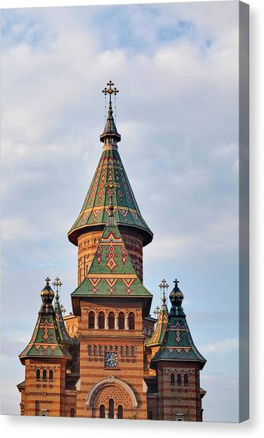 Byzantine Art Canvas Print - Timisoara In The Banat Of Romania by Martin Zwick