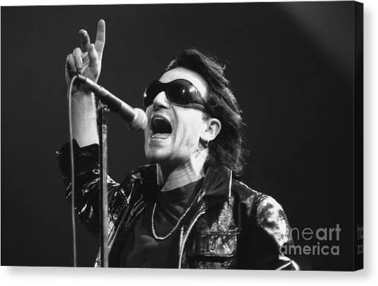 Bono Canvas Print - U2 - Bono by Concert Photos