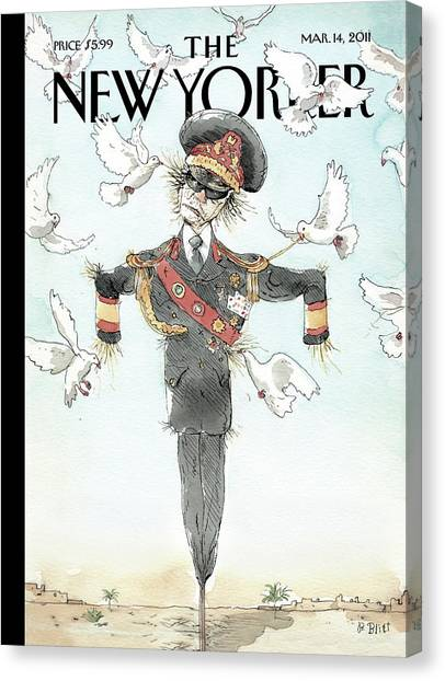 Scarecrows Canvas Print - New Yorker March 14th, 2011 by Barry Blitt