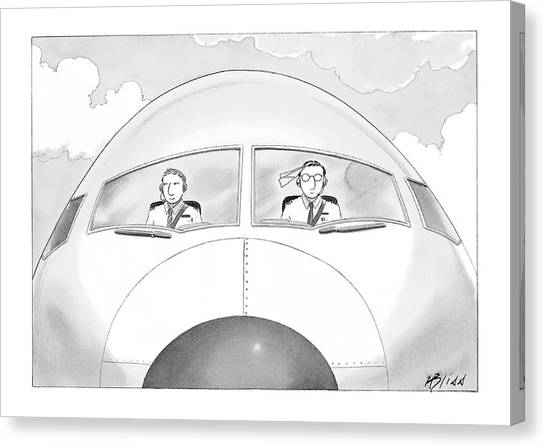 Toy Airplanes Canvas Print - New Yorker January 16th, 2006 by Harry Bliss