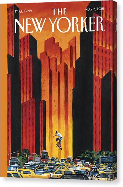Traffic Canvas Print - The Endless Summer by Mark Ulriksen