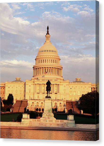 Usa, Washington Dc, Capitol Building Canvas Print by Walter Bibikow