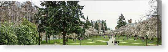 University Of Washington Canvas Print - UW by Gary Marine