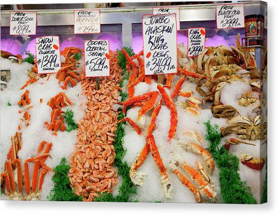 Fish Market Canvas Print - Wa, Seattle, Pike Place Market by Jamie and Judy Wild