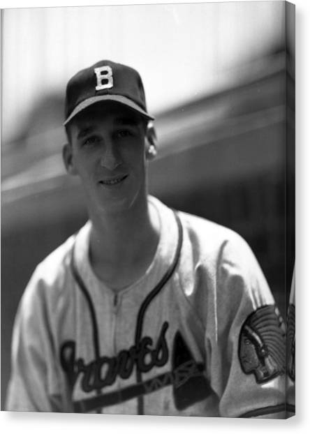 New York Mets Canvas Print - Warren Spahn by Retro Images Archive