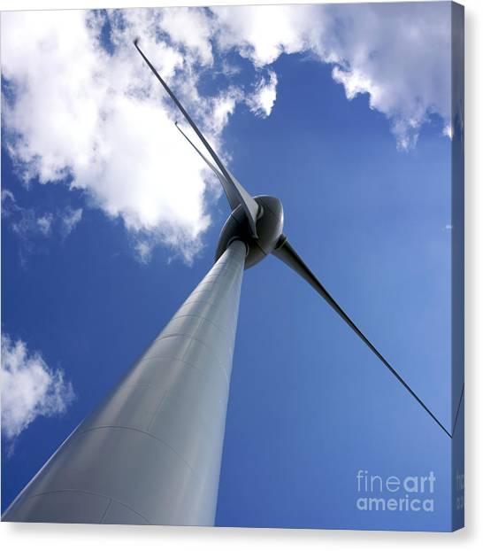 Wind Farms Canvas Print - Wind Turbine by Bernard Jaubert