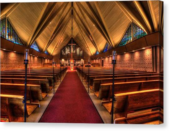 Woodlake Lutheran Church Canvas Print
