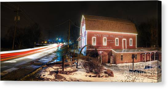 Cider Canvas Print - Yates Cider Mill At Christmas by Twenty Two North Photography