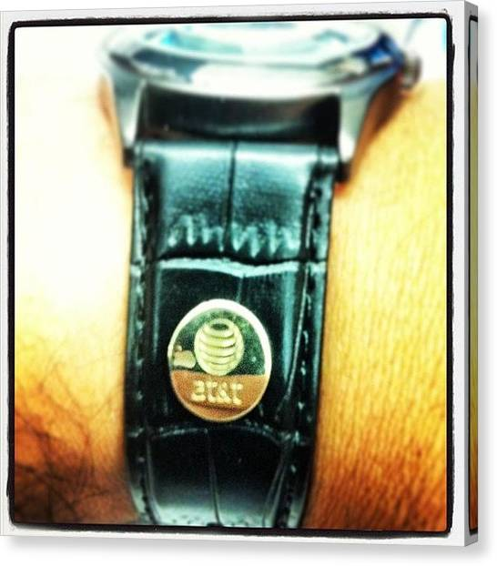 Anniversary Canvas Print - 5 Year Gift #at&t #gift #watch by Nestor Cruz