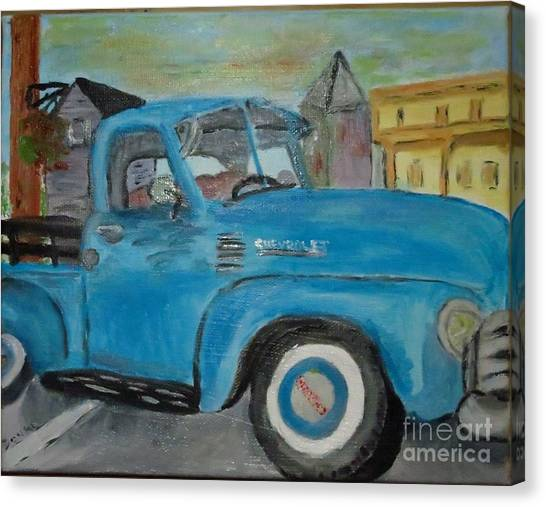 50 Chevy In Tannersville Canvas Print