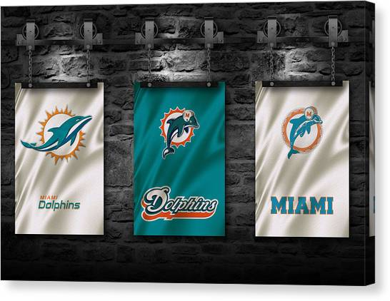 Miami Dolphins Canvas Print - Miami Dolphins by Joe Hamilton