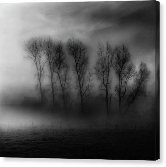 Belgium Canvas Print - 50 Shades Of Fog by Yvette Depaepe