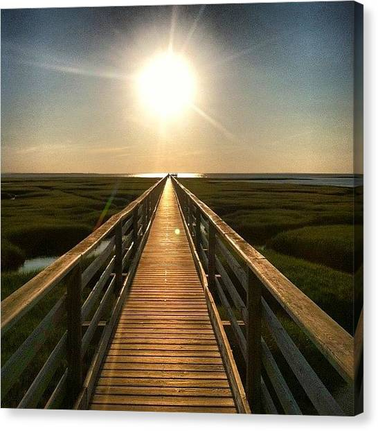 Symmetrical Canvas Print - Grey's Beach by Dan Gilrein