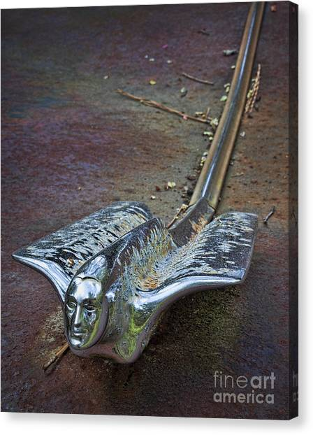 50s Cadillac Hood Ornament #2 Canvas Print