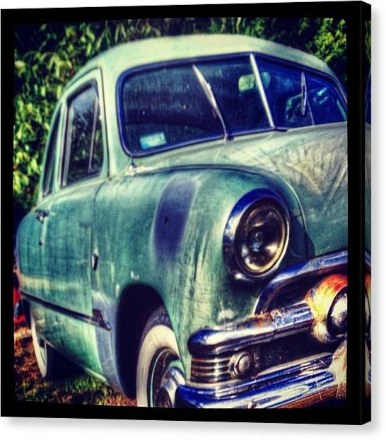 Mercury Canvas Print - #50's#mercury#bygone #vintage # by Bob Price