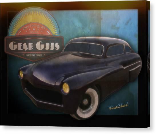 51 Mercury Gear Guys Car Club Alice Springs Nt Canvas Print