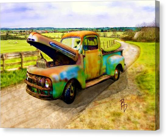 52 Ford F3 Pick-up Truck Canvas Print