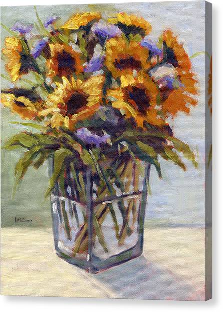 Canvas Print featuring the painting Summer Bouquet 4 by Konnie Kim