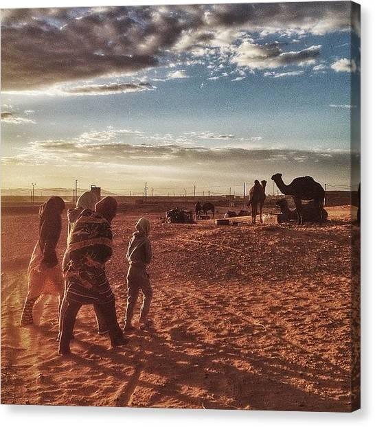Sahara Desert Canvas Print - 53 Days To Timbouktou #sahara #desert by Mark Piunov