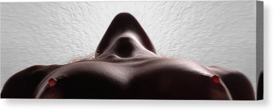 5338 Radiating Power A Fine Art Nude By Chris Maher 1 To 3 Ratio Canvas Print by Chris Maher
