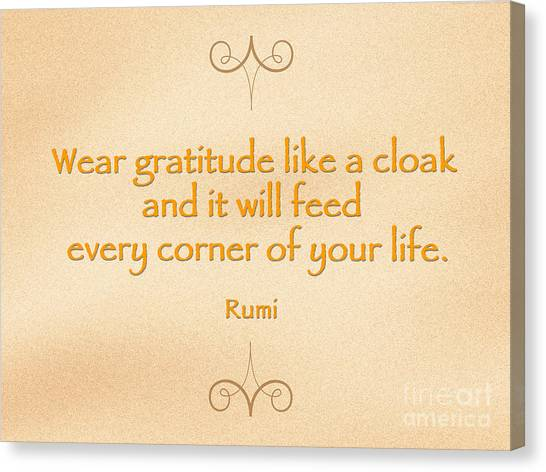54- Rumi Canvas Print