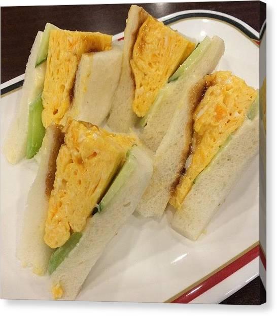 Sandwich Canvas Print - Instagram Photo by Tomohiro TAMIMORI