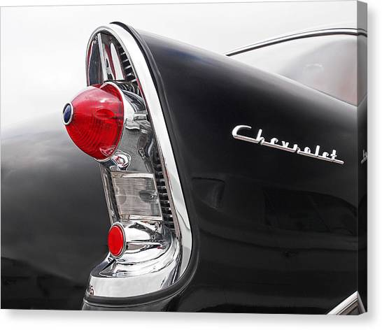 56 Chevy Rear Lights Canvas Print