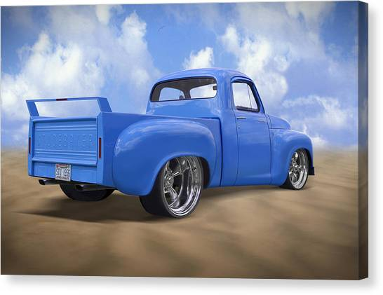 Street Rods Canvas Print - 56 Studebaker Truck by Mike McGlothlen