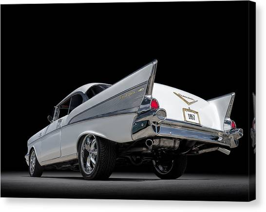 Vintage Chevrolet Canvas Print - '57 Bel Air by Douglas Pittman