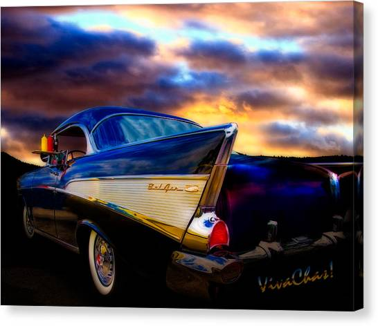 57 Belair Hardtop Cruise Is Done Canvas Print