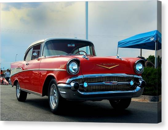 57 Chevy Bel-aire Canvas Print by Don Durante Jr
