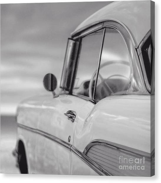 Aspect Canvas Print - 57 Chevy Belair At The Beach by Edward Fielding