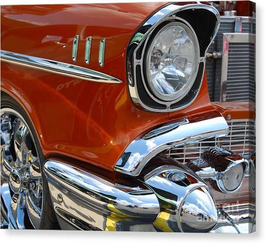'57 Chevy Closeup Canvas Print