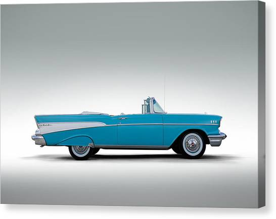Chevy Canvas Print - 57 Chevy Convertible by Douglas Pittman