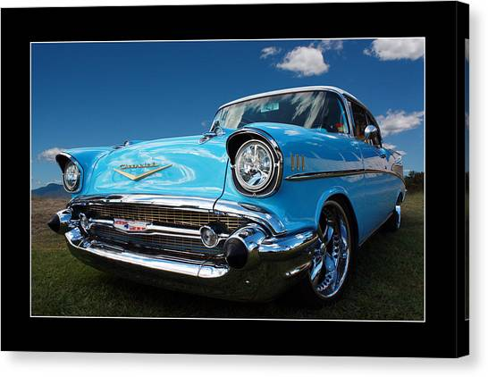 57 Chevy Sedan Canvas Print by Keith Hawley