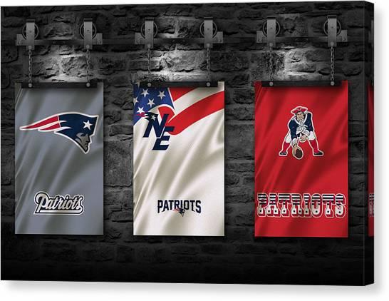 New England Patriots Canvas Print - New England Patriots by Joe Hamilton