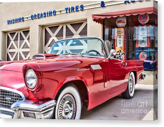 57 T-bird Canvas Print by Lawrence Burry