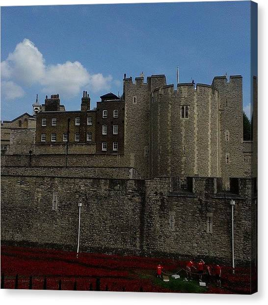 Tower Of London Canvas Print - Instagram Photo by Danielle Griffith