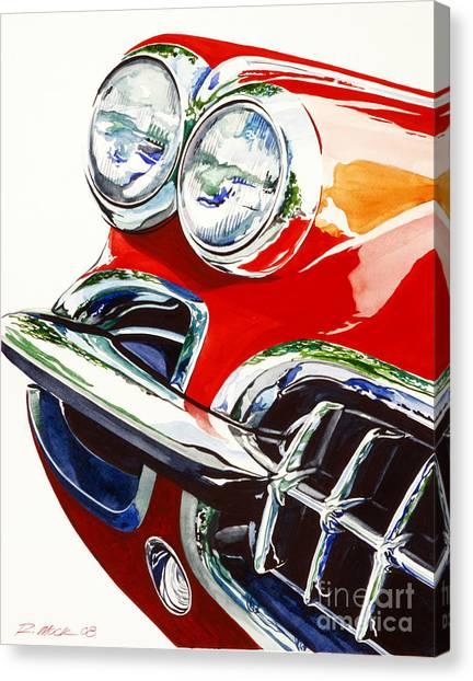 58 Corvette Canvas Print by Rick Mock