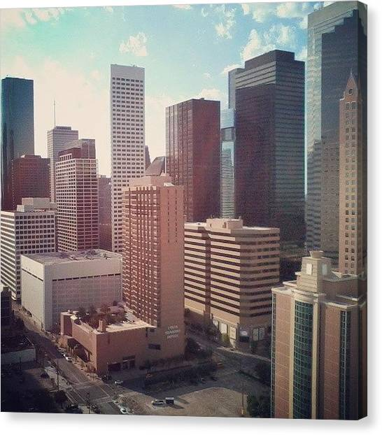 Houston Skyline Canvas Print - Instagram Photo by Cindy Cisneros