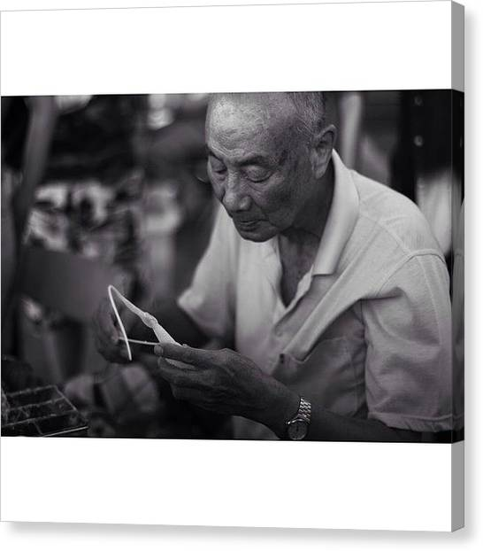 Grandpa Canvas Print - Instagram Photo by Allison Lin