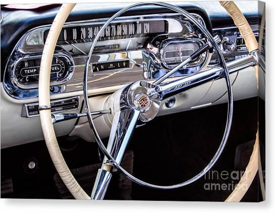 58 Cadillac Dashboard Canvas Print