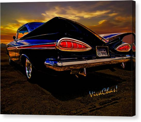 59 Chevy Impala Hardtop Canvas Print