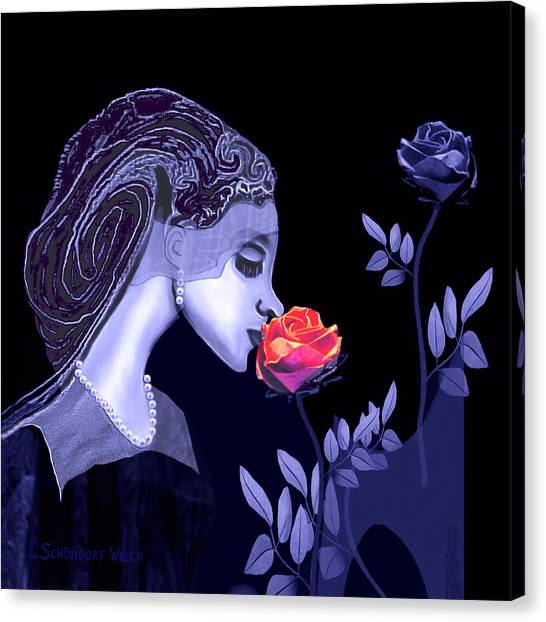 590 Flavour Of The Rose Canvas Print by Irmgard Schoendorf Welch
