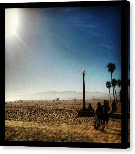 Santa Monica Canvas Print - santa Monica beach at Its best by Jillian  Lane