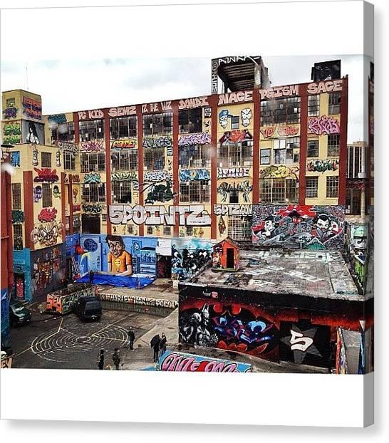Queens Canvas Print - #5pointz #graffiti #streetart #queens by Blaine Prickett