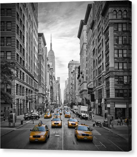 Pavement Canvas Print - 5th Avenue Nyc Traffic II by Melanie Viola