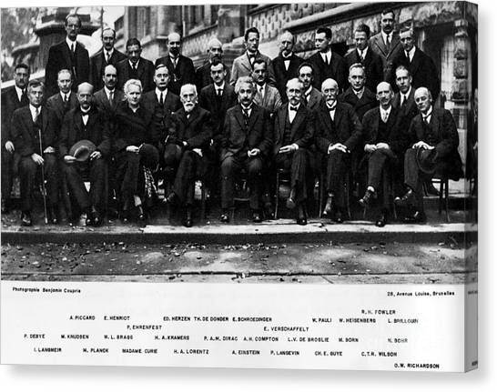 5th Solvay Conference Of 1927 Canvas Print